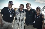 Left to right: Joe Kittinger, Felix Baumgartner, Art Thompson and Mike Todd